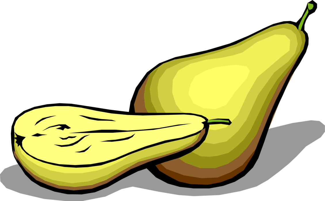 svg royalty free stock Sliced Pear
