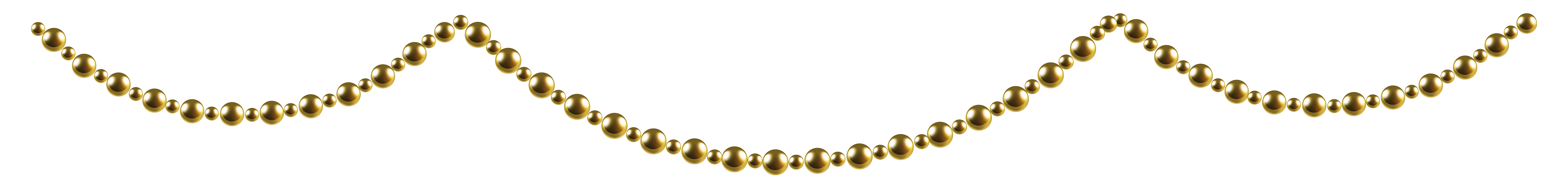 image free library Gold Garland PNG Clip Art Image