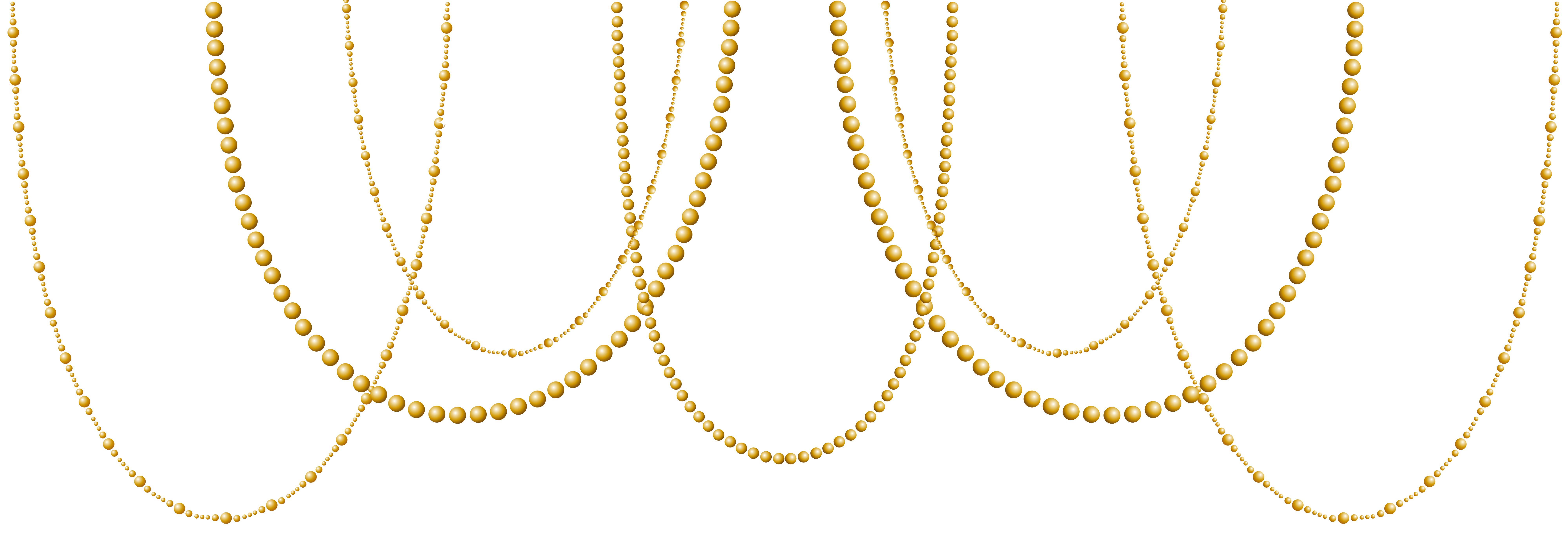 clipart royalty free stock Pearls clipart. Deco gold transparent clip