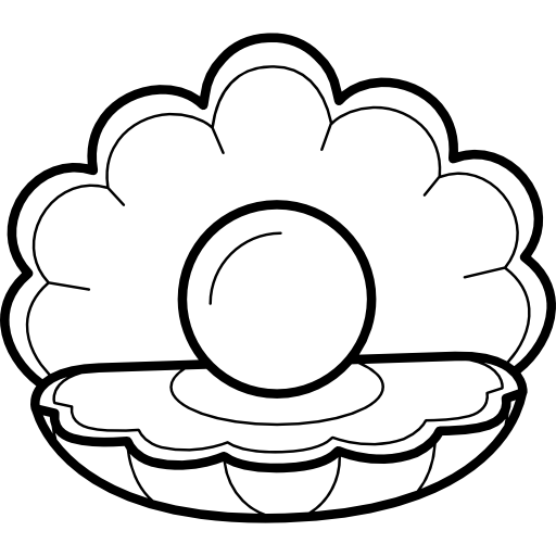picture freeuse library At getdrawings com free. Clam clipart pearl drawing.
