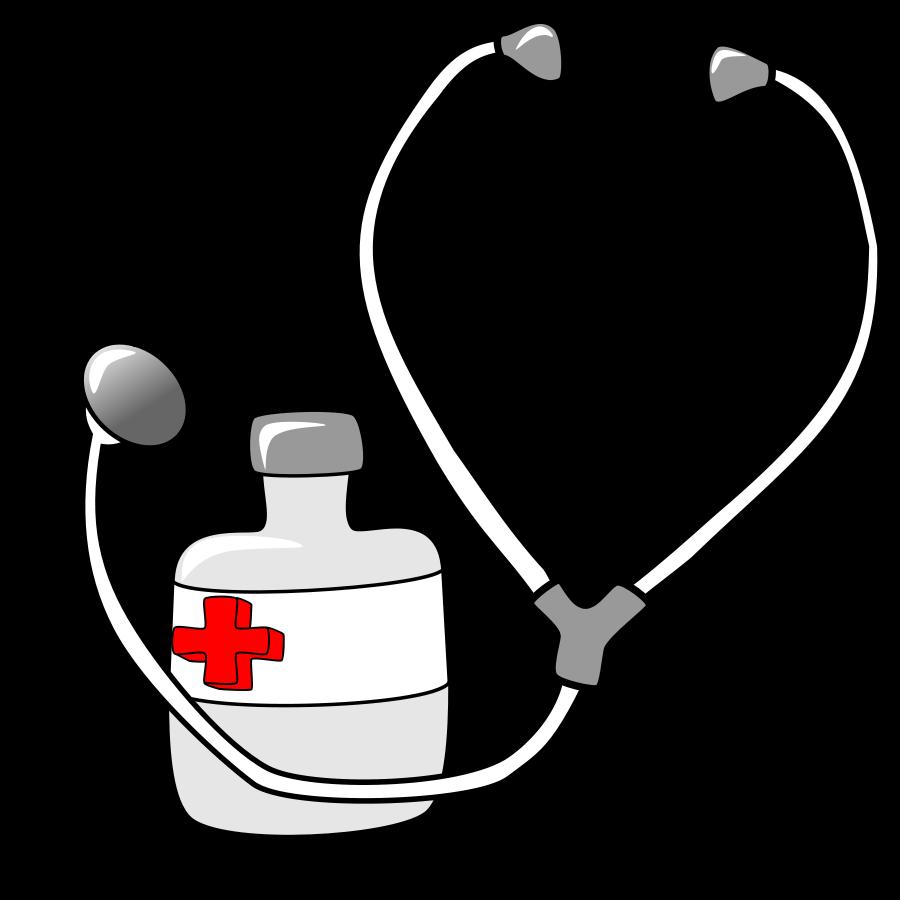 library Stethoscope svg panda free. Medicine clipart cartoon.