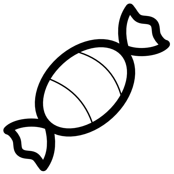 vector library library Candy icon line art. Peeps black and white clipart