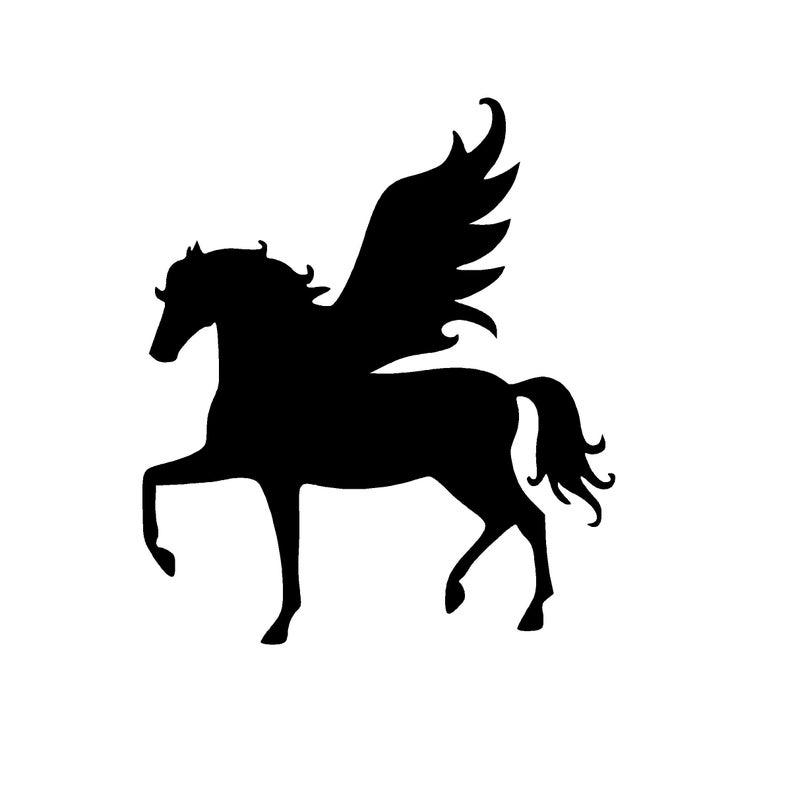 clip library Graphic instant digital download. Pegasus vector.