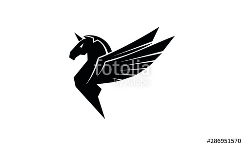 free library Pegasus vector. Stock image and royalty