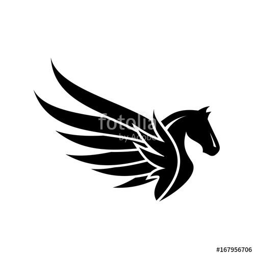 image download Pegasus vector. Logo design stock image.