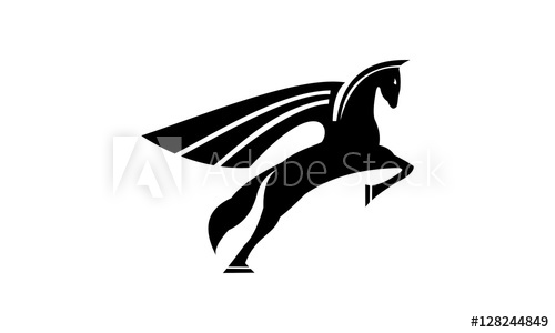 svg black and white download Buy this stock and. Pegasus vector
