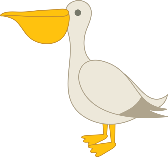 picture royalty free library Pelican clipart. Cartoon birds pinterest clip