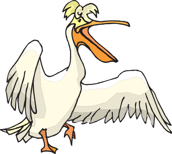 jpg black and white library Pelican clipart. Silly clip art at.