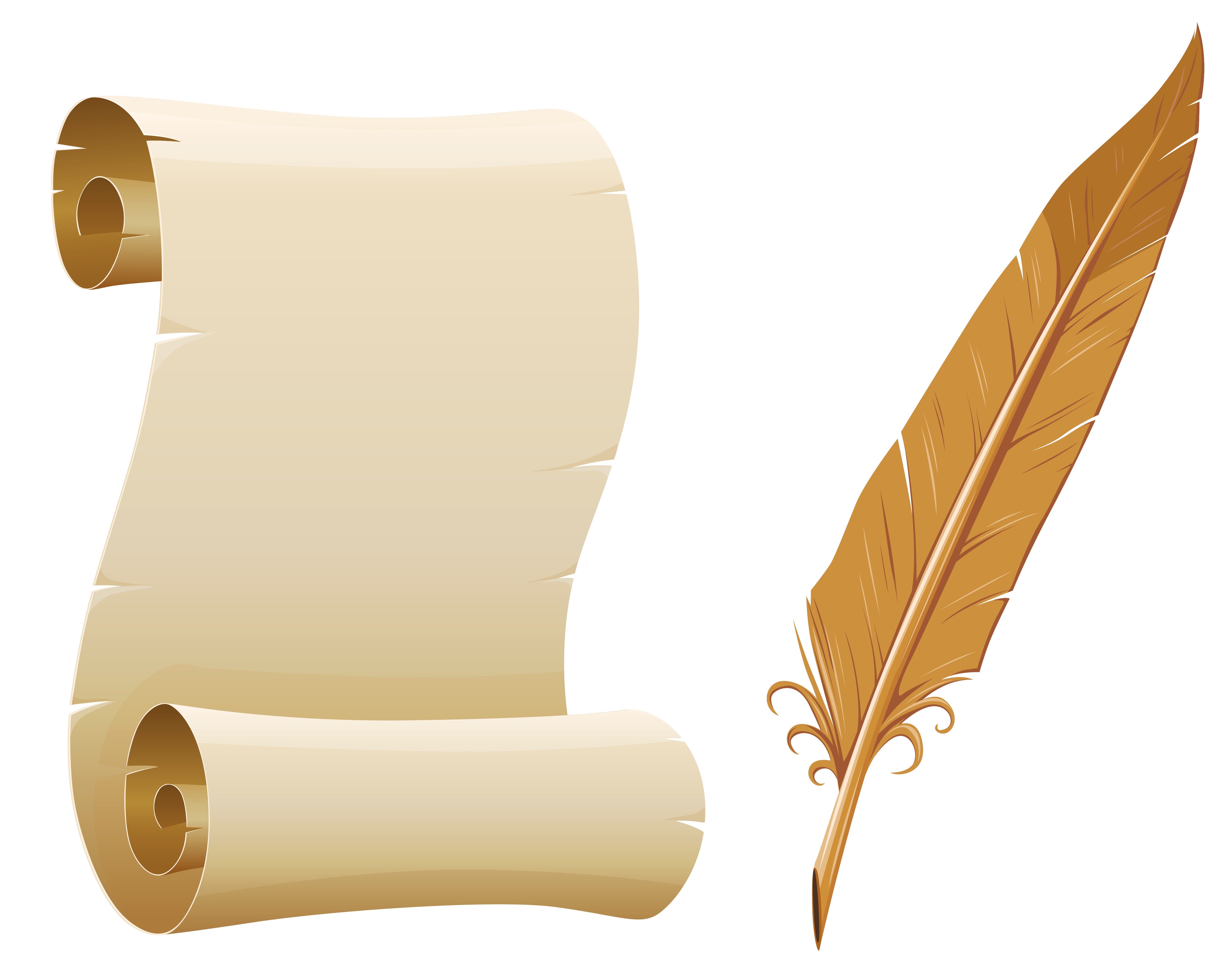 svg library library Writer clipart task. Scrolled paper and quill