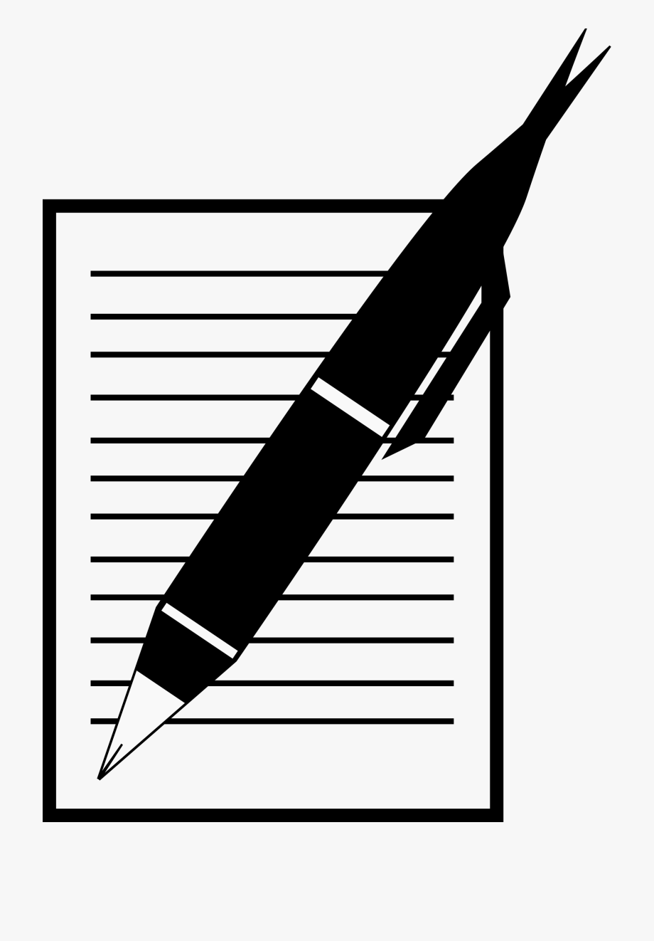 svg library library  collection of clipart. Transparent writer pen and paper