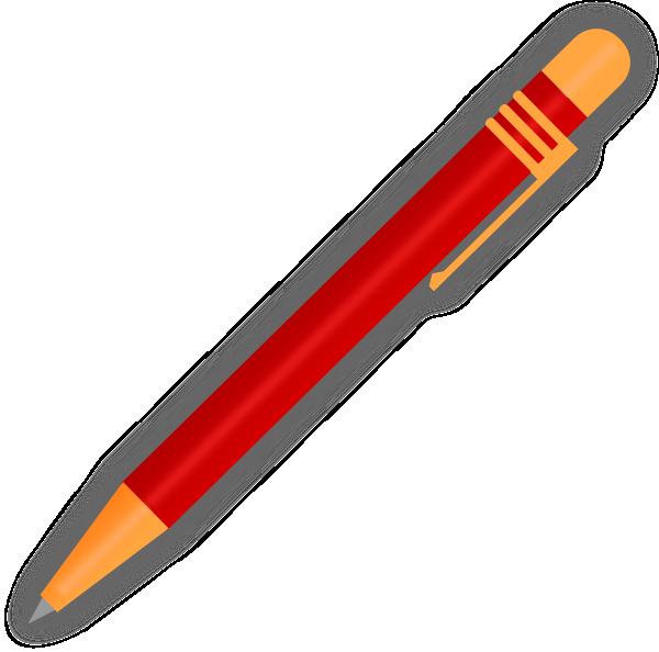 image free stock Red ballpoint clip art. Pen clipart