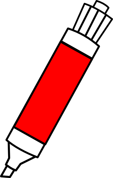 freeuse library Red clip art at. Dry erase marker clipart