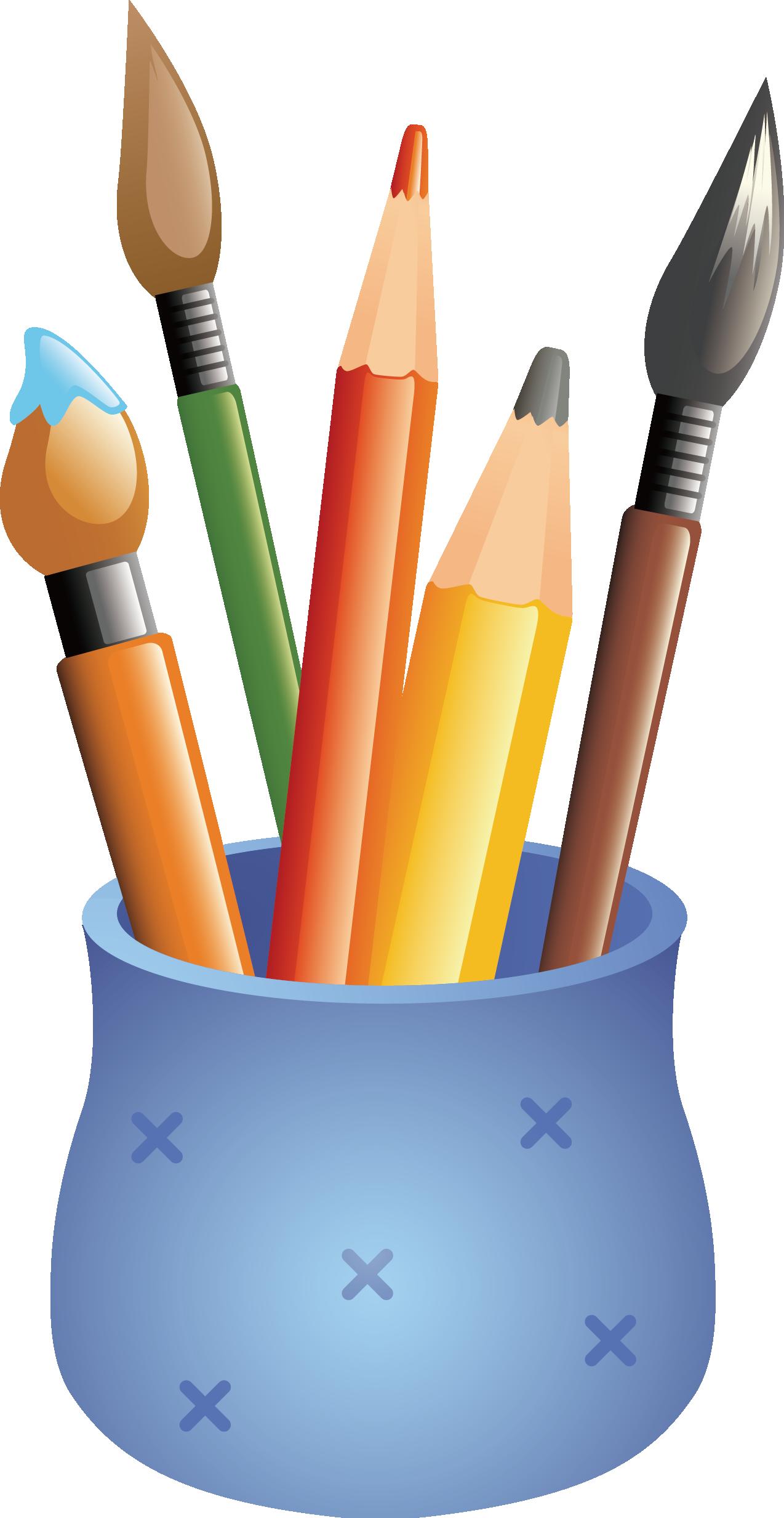 svg transparent stock Bananas drawing colored pencil. Case cartoon pen holder