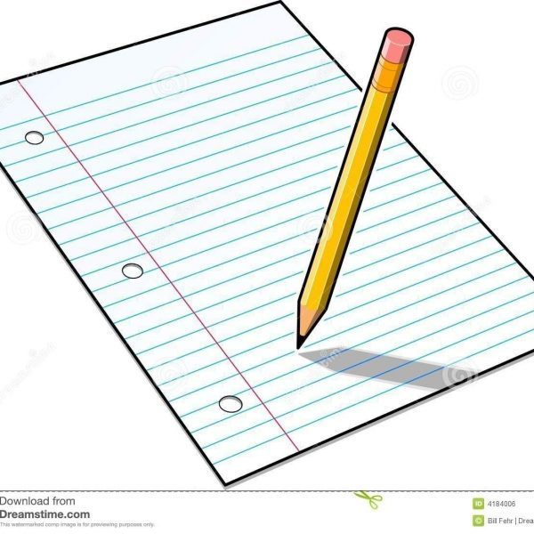 banner freeuse stock Pencil writing on paper clipart. In notebook clipartuse with
