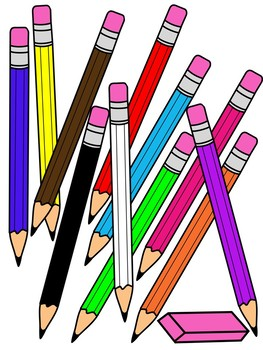 clipart transparent library Pencils clipart. Pencil with eraser color
