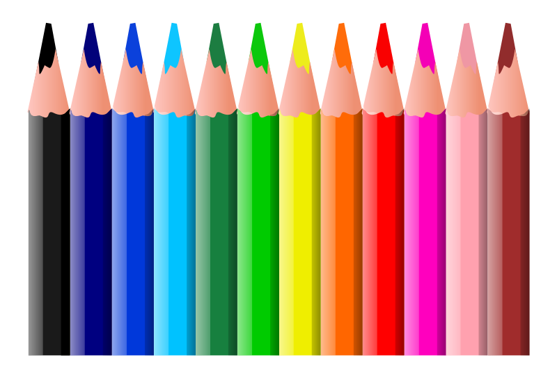 clip royalty free download Pencils clipart. Coloured medium image png