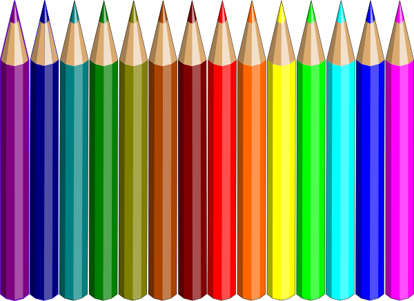 freeuse  colored clip art. Pencils clipart