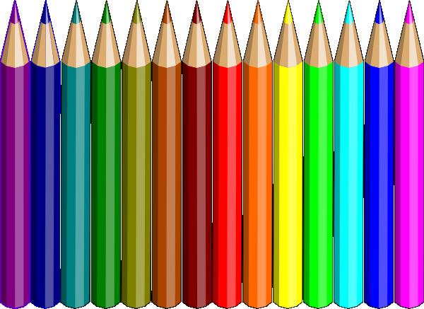 freeuse  colored clip art. Pencils clipart.