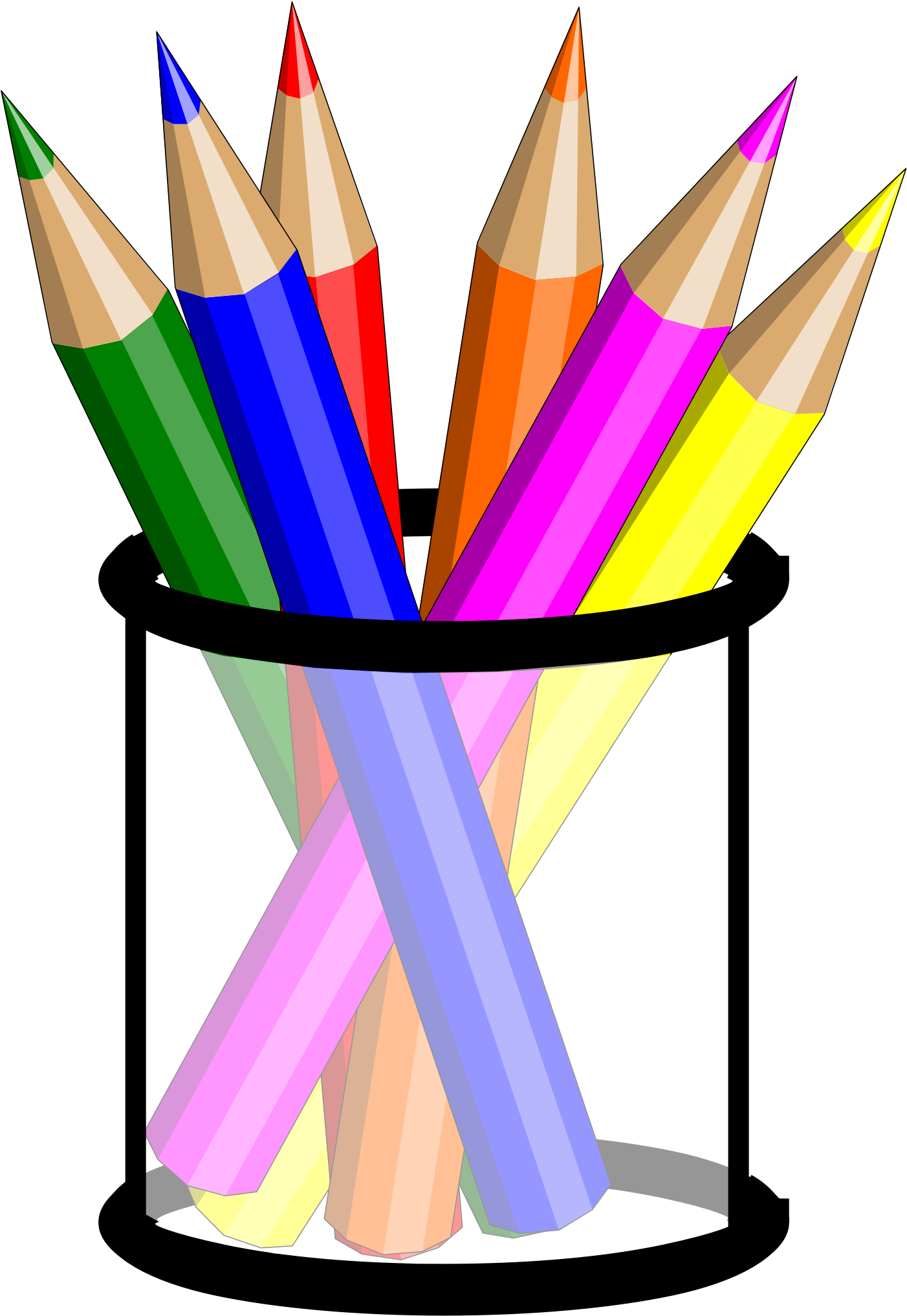 svg royalty free stock  collection of colouring. Pencils clipart.