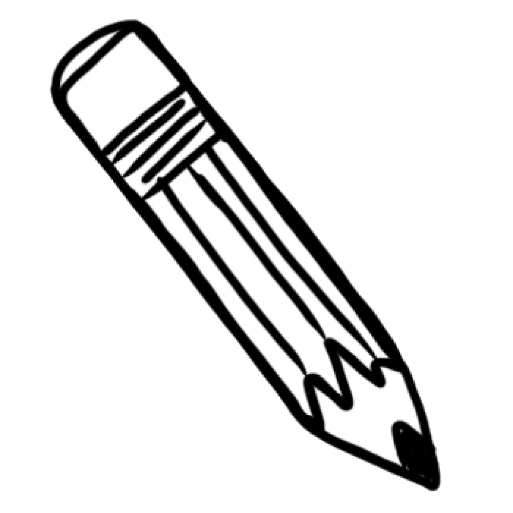 clip royalty free library Pencils clipart black and white. Pencil summer hatenylo com