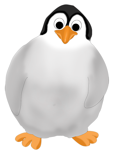 vector freeuse library Drawing penguin realistic. Funny clip art baby