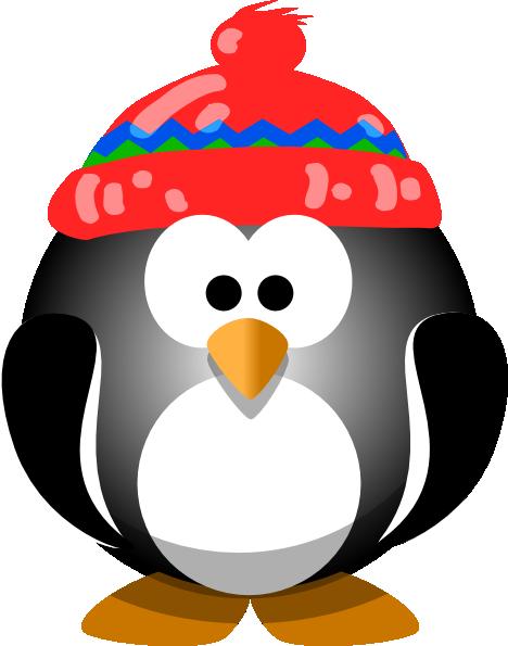 graphic cute christmas penguins clipart #61018850