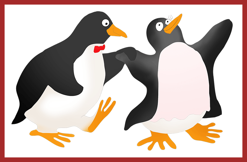clipart library library Appealing Collection Of Penguin Couple Drawing High Quality Habitat