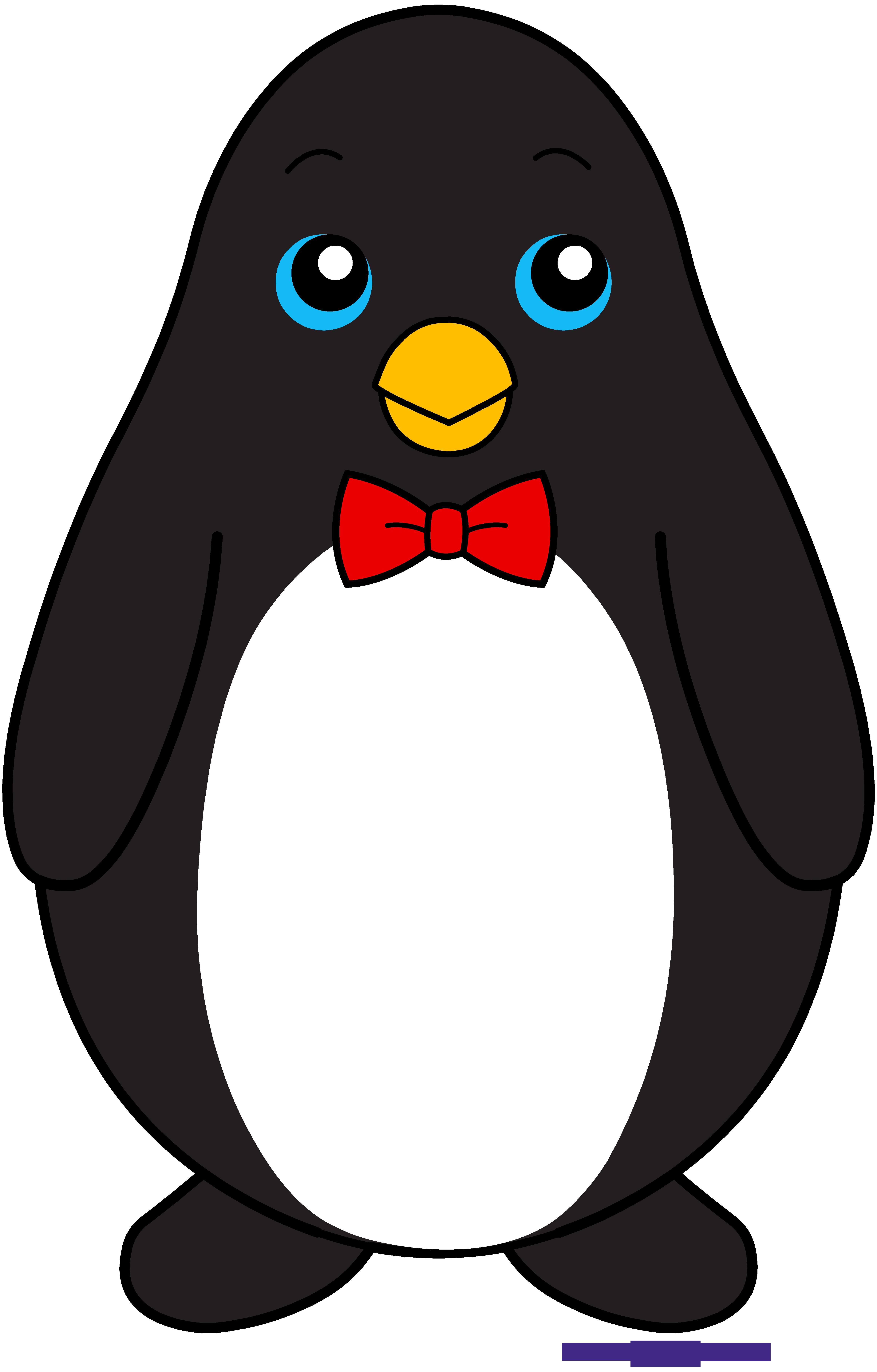 clip transparent Penguin black sweet clip. Free bowtie clipart.