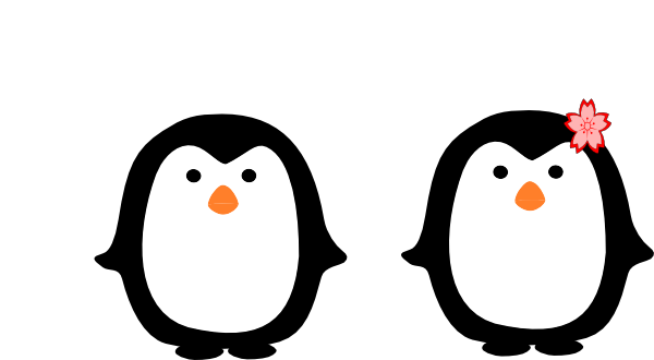 vector black and white download Penguins clipart. Two clip art at