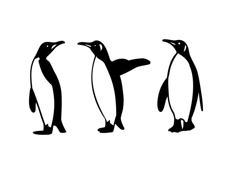 image library stock Penguin svg winter clip. Penguins clipart