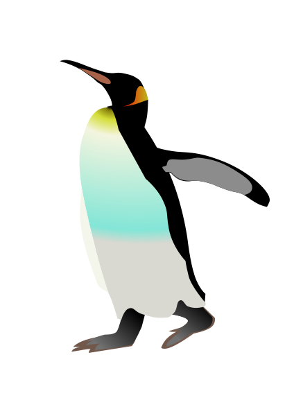 free King penguin clipart. Funny clip art two
