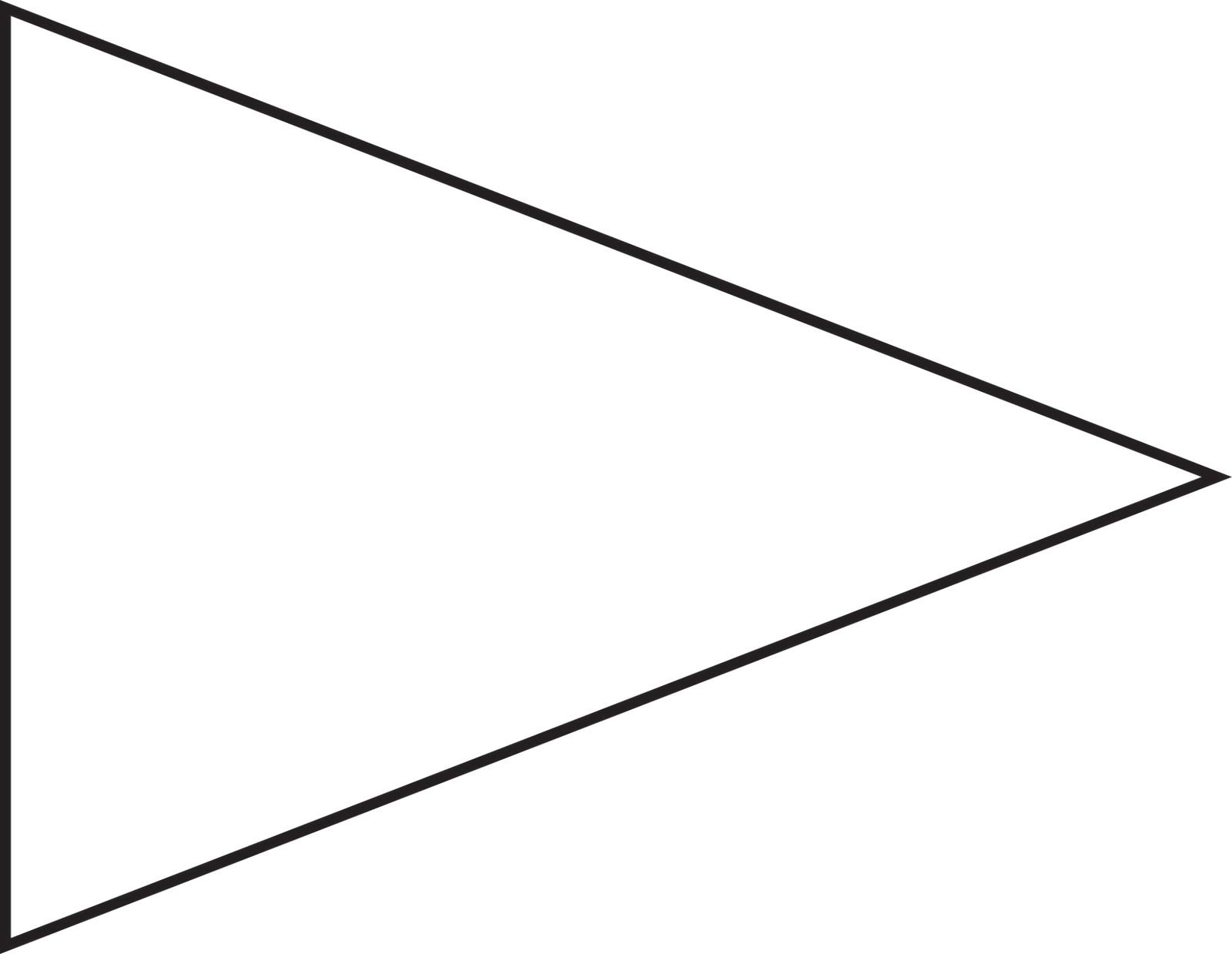 png royalty free stock Pennant clipart. Pin triangle flag outline.