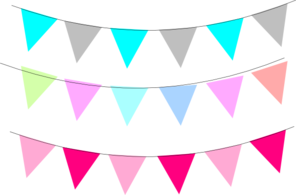 png transparent download Triangle flag banner panda. Pennant clipart