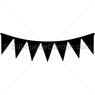 clipart library stock Pennant clipart sport. Banner silhouette .