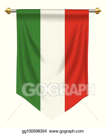 clipart free Eps illustration italy clipart. Pennant vector