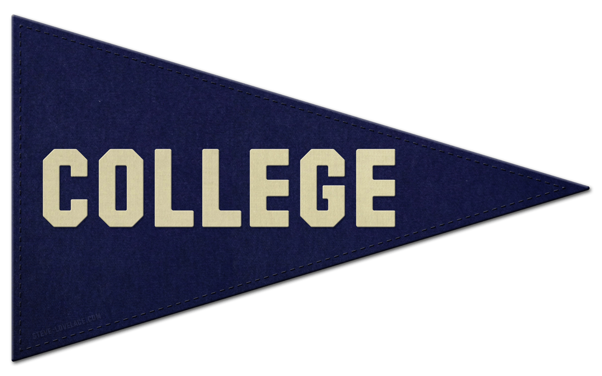 picture freeuse download College Pennant Clipart