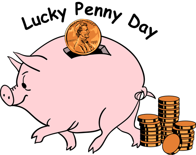 banner library download Pennies clipart. Learn all about lucky.