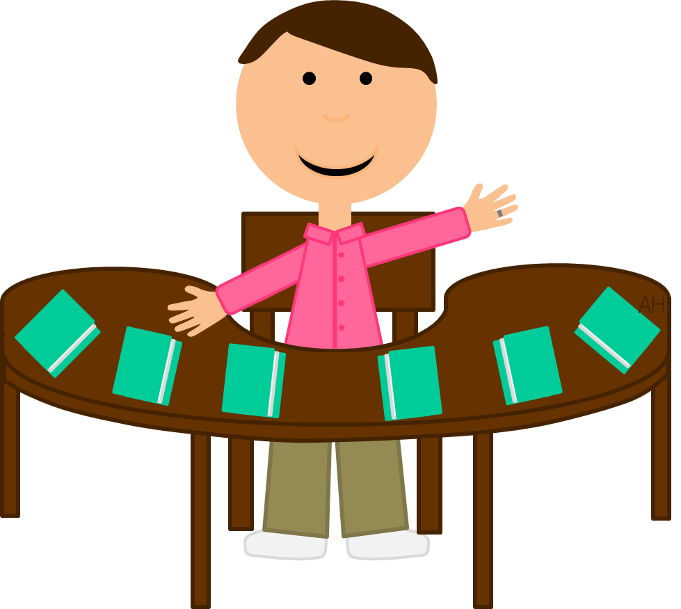 jpg free library Teacher Table Clipart