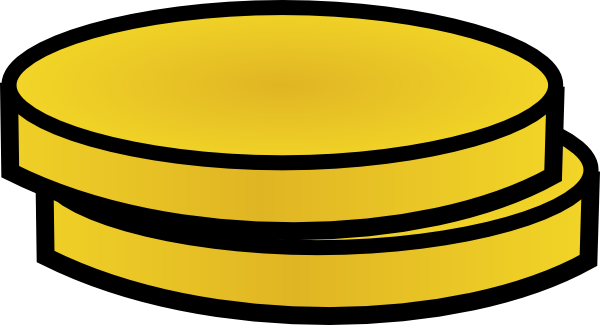 transparent stock Two Gold Coins Clip Art at Clker