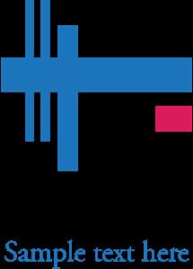 clip transparent download Company logo ai free. Vector blue shape