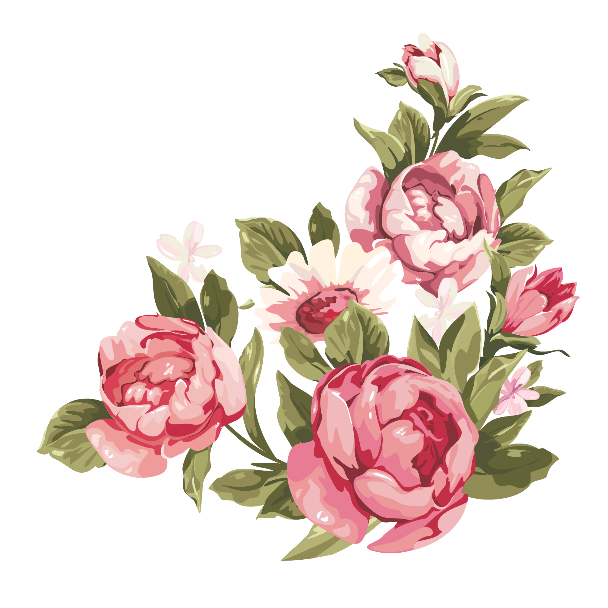 vector free How to distress furniture. Peonies clipart floral accent