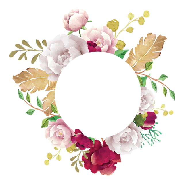 png library flower frame