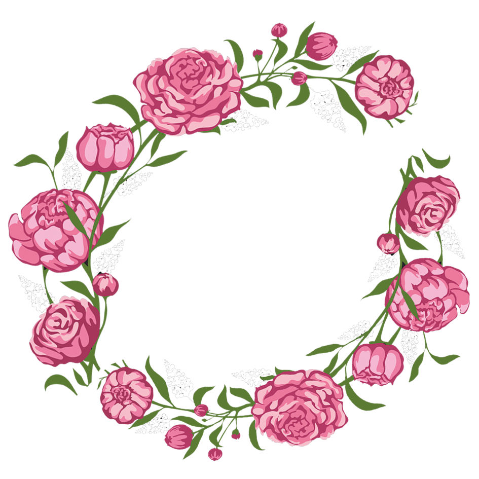 picture transparent library Rose Flower Pink Wreath