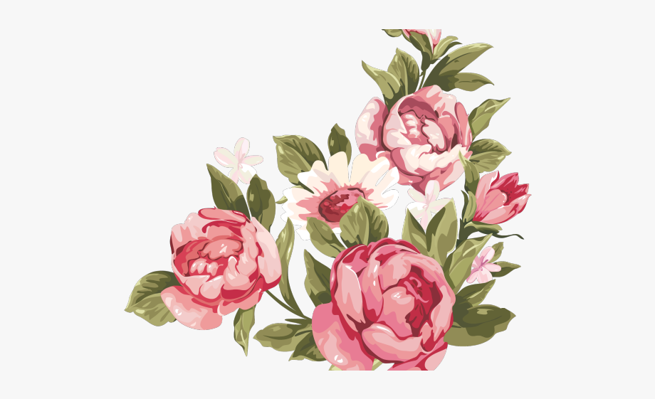 clip transparent stock Floral accent mothers day. Peony clipart.