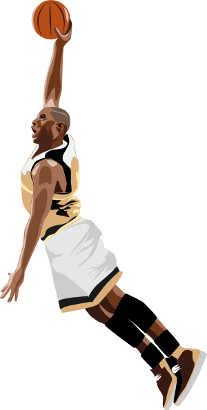 freeuse library Basketball Slamdunk Clip Art at Clker