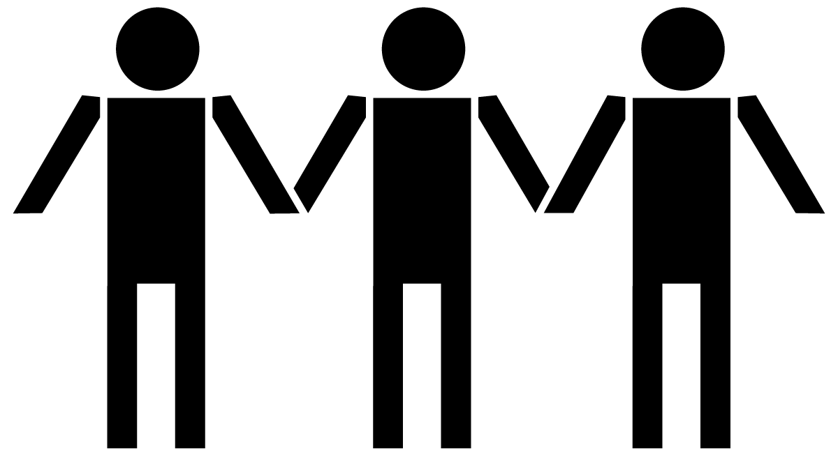 picture stock  collection of people. Working together clipart black and white.