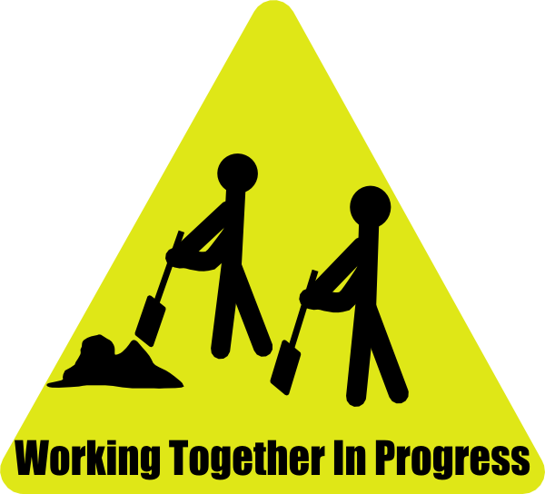 image royalty free People working together clipart. In progress clip art.