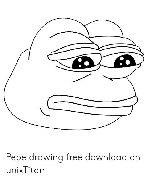 svg free Free download on unixtitan. Pepe drawing