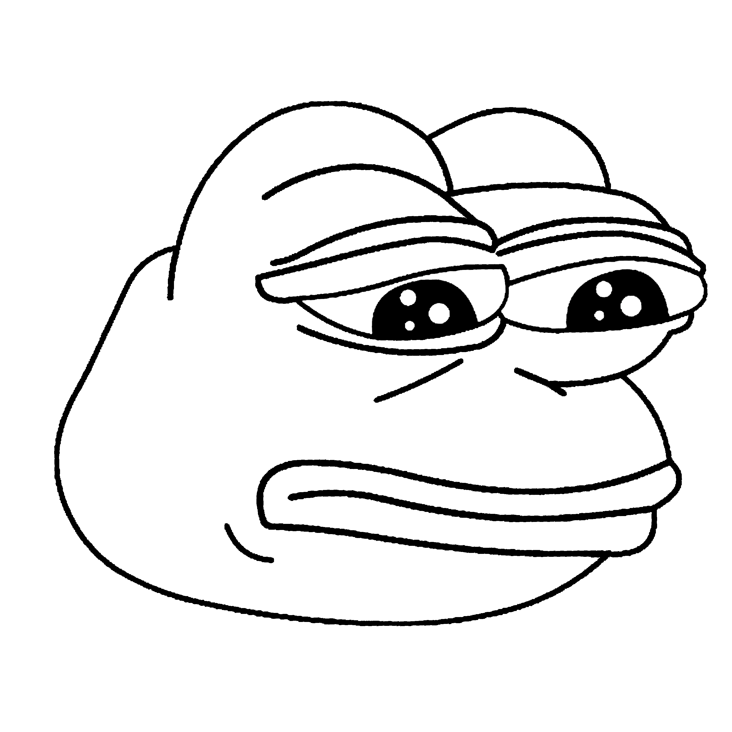 clipart library library The frog black x. Pepe drawing