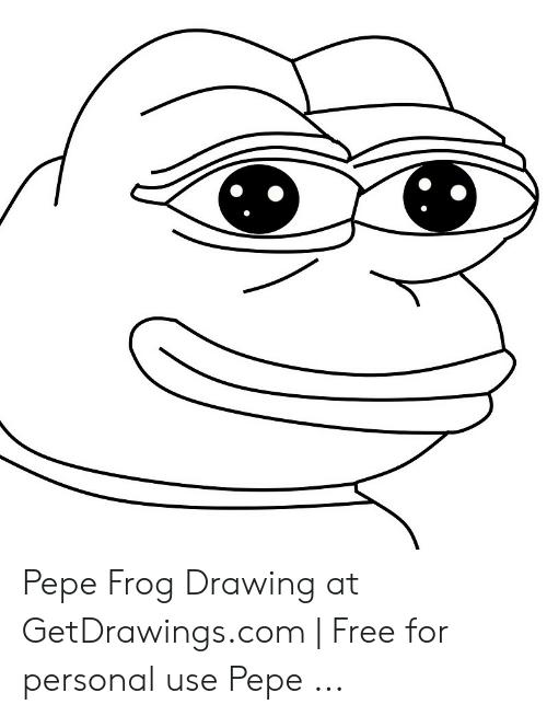 png free download Pepe drawing. Frog at getdrawingscom free